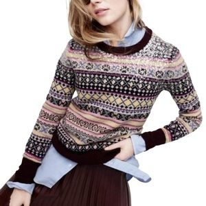 J. Crew Sequin Fair Isle Sweater